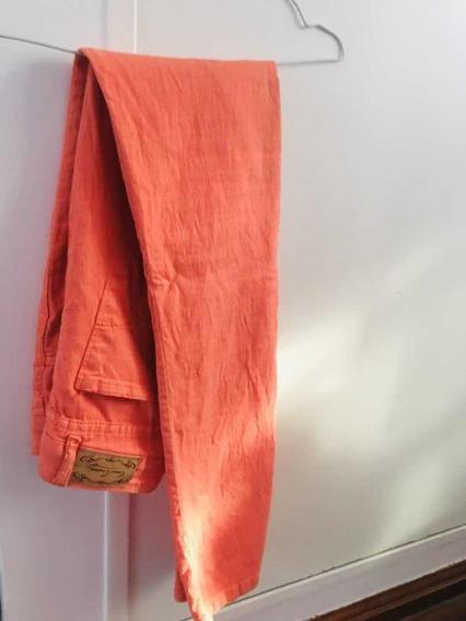 Pantalón Color Naranja Talle 40 Como Quieres Que Te Quiera