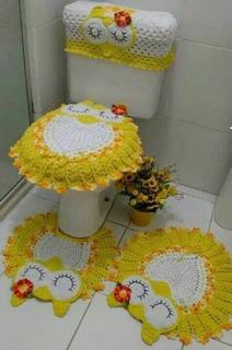 Tapetes De Crochê Para Banheiro De Corujinha