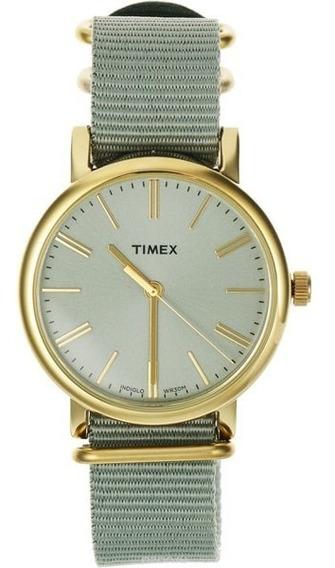 Reloj Timex Tw2p88500 Dama Mujer Elegante Gris Estilo Cool