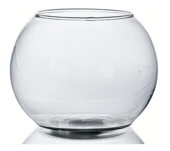 Vaso De Vidro Aquário Redondo 900ml Decoração Peixes