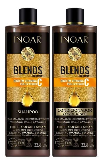 Combo Shampoo E Condicionador Inoar Blends 2x1 Litro - Inoar
