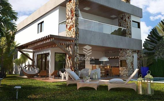 ` Casa Com 4 Quartos À Venda, 200 M², Jardins Das Dunas, Financia - Mangabeira - Eusébio/ce - Ca0285