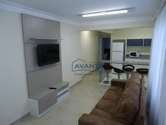 Flat Com 2 Dormitórios Para Alugar, 60 M² Por R$ 2.500,00/mês - Juvevê - Curitiba/pr - Fl0002