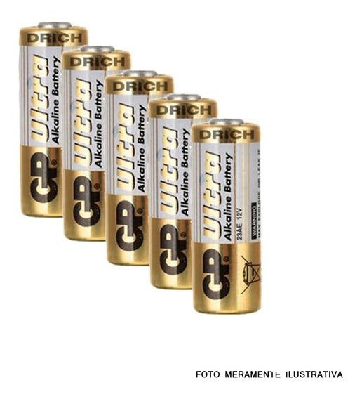 Bateria Pilha A23 Controle Remoto Portão Alarme 5 Unidades