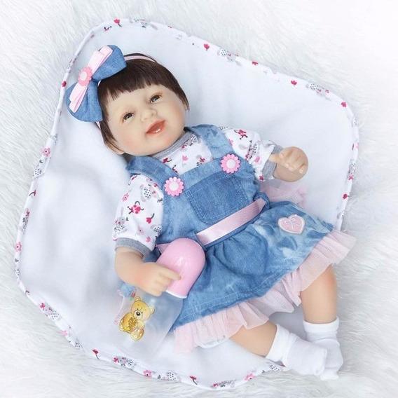 Boneca Bebe Reborn Larinha Vitoria Lucy 42 Cm Sob Encomenda