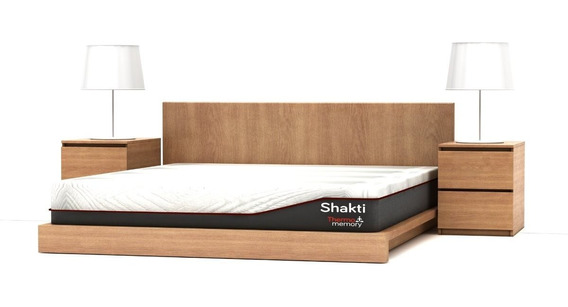 Colchón + Box Shakti Queen Size Memory Foam Gel Envío Gratis