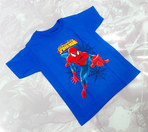 Camisetas Estampadas Cómics Niño Spiderman