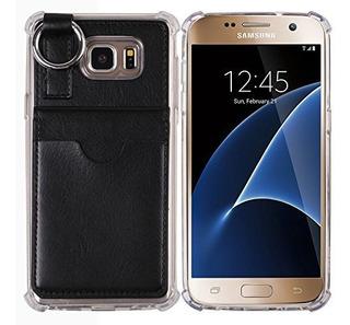 Funda Galaxy S7 Wallet Casepocket Ring Bumper Credit Card C