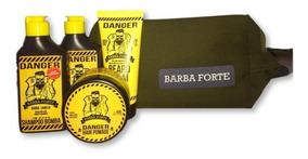 Kit Barba Forte Danger (mini) 4 Produtos + Necessaire