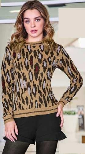Sweater Animal Print Cklass 232-58