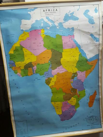 Mapa Retro Político De Africa