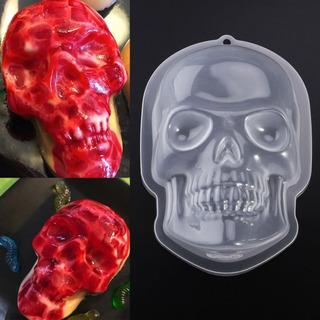 Molde Para Gelatina Calavera Cerebro Halloween Dia De Muerto
