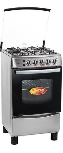 Cocina A Gas James Inox Encendido Total Grill C-655 Yanett