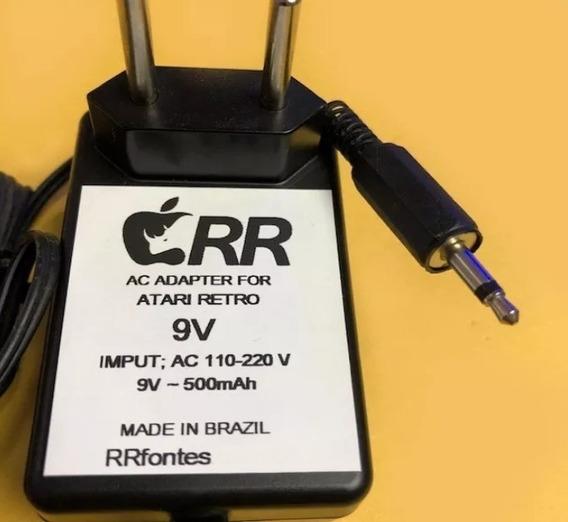 Fonte Carregador Atari 2600 Cce Dactar Retro Bit Bivolt 9v