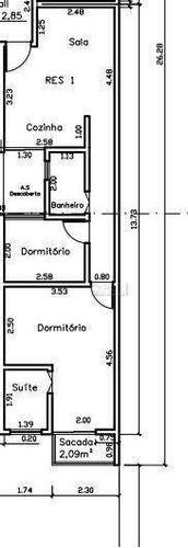 Apartamento Com 2 Dorms 1 Suíte, 51 M² Por R$ 280.000 - Valparaiso - Ap12111