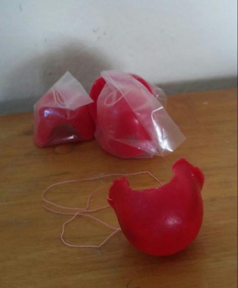 25 Nariz De Payaso Roja Redonda Plástico Económica