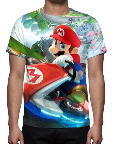 Camisa, Camiseta Game Mario Kart - Estampa Total