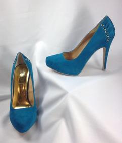 Thalia Sodi Novva Tacones Con Plataforma Corset Azul T 23