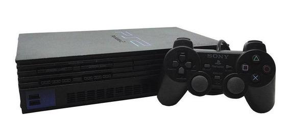 Console Playstation 2 Fat Preto Sony Europeu Pronta Entrega