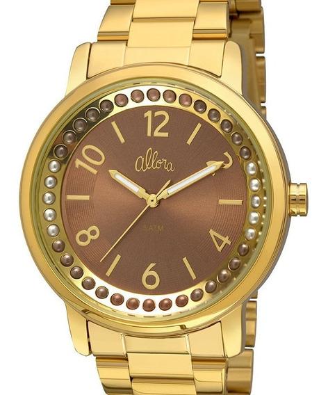 Relógio Allora Feminino Dourado - Al2035fhz/4m