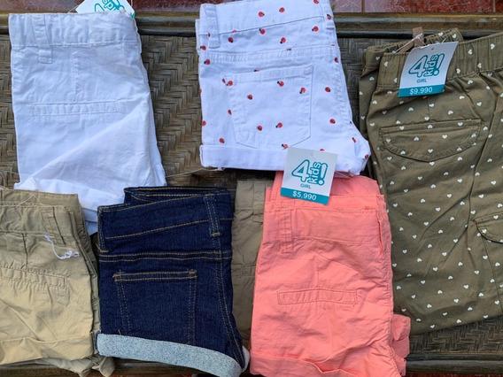 Pack 20 Short Rosado Ropa De Niña Marca 4 Kids Nueva !