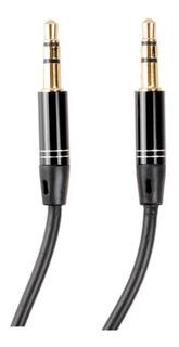MagiDeal 3.5mm 4 Poles Macho A Macho M//M Jack Audio Est/éreo Auxiliar Cable de Muelle Negro 3m
