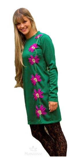 Vestido Manawee Mujer Bordado A Mano