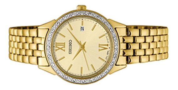 Relógio Social Seiko Prova Dágua Barato Feminino Sur728b1
