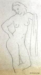 Antônio Gomide Desenho Lápis Figura Feminina Acid 27x18 Cm