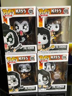 Funkonpop Rocks Kiss Set Completo 4 Figuras Gene Stanley
