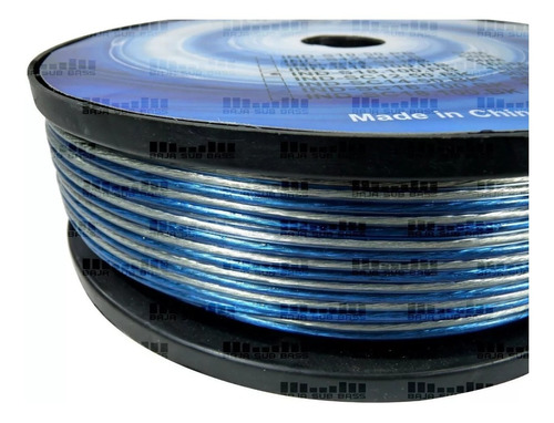 Bobina Carrete Cable Marca Inmortal Dragon Calibre 10 De 50 Metros Cable Ideal Para Woofer Aleacion Ind-s10.50pb