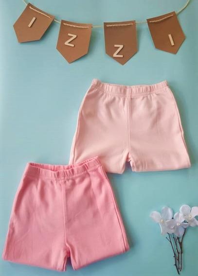 Paquete X 2 Leggings O Pantalónes Rosa