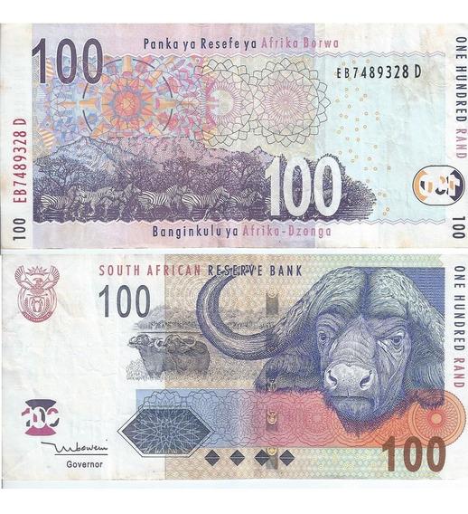 Cédula Moeda Papel Africa Do Sul 100 20 E 10 Dinheiro