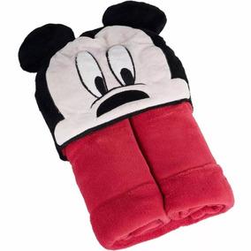 Manta Com Capuz Infantil Mickey Mouse
