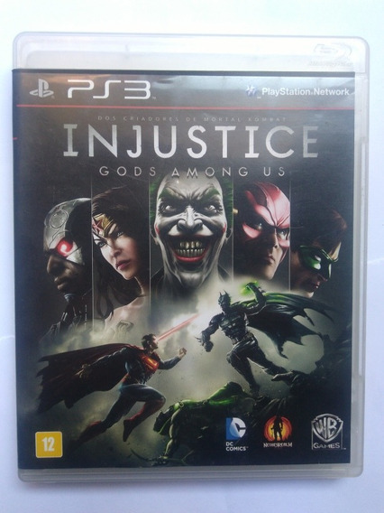 Jogo Injustice Gods Among Us Ps3 Midia Fisica Pt/br R$59,90