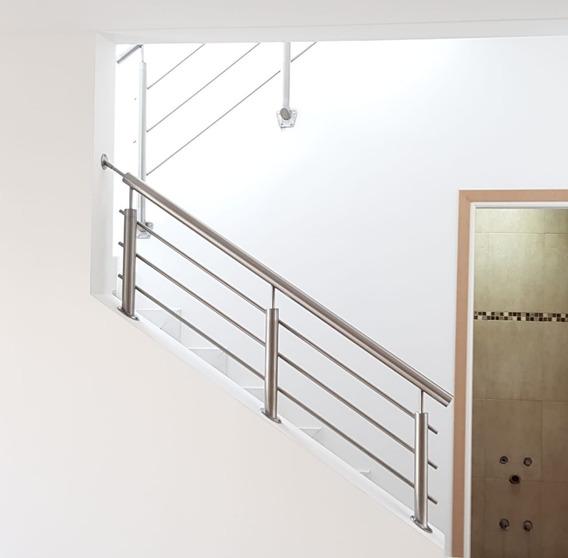 Barandas En Acero Inoxidable Para Escaleras. 3 Caños.