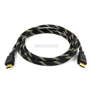 Cable Hdmi 3 Metros Soporta 3d 4k 4096x2160 - Puntas Doradas