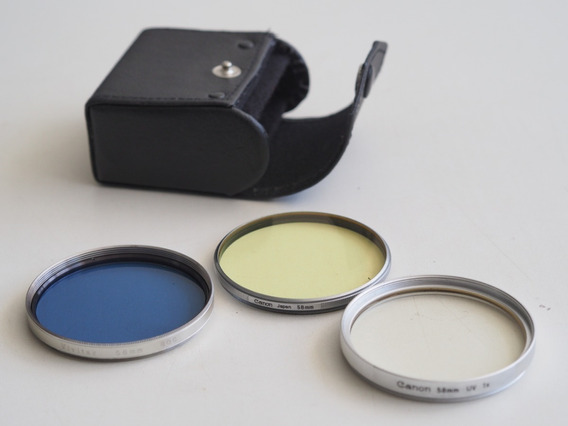 Filtros Aro Prata Vintage Canon Vivitar Yashica + Case