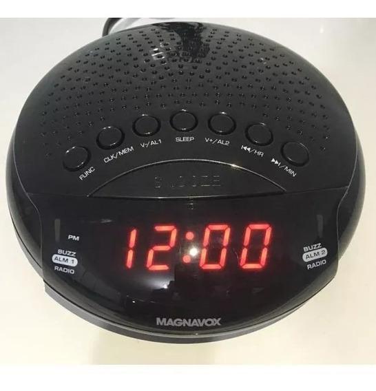 Rádio Relógio Magnavox Digital Alarme Duplo Rádio Am/fm,