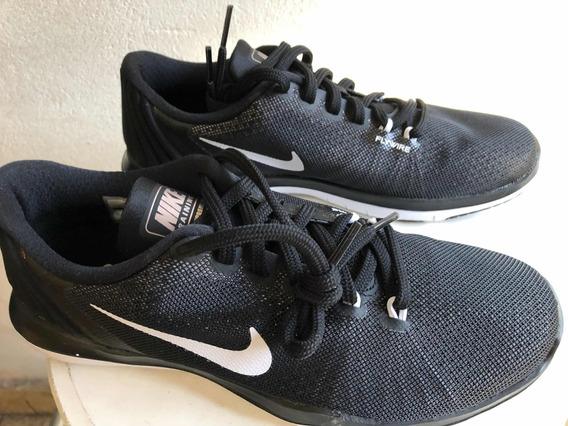 Zapatillas Nike Original Negras Flex Nro. 8 ( Arg 38)