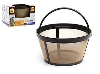 Goldtone Reutilizable 8-12 Taza Cesta De Filtro De Cafe Se A