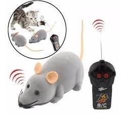 Robo Rato De Controle Remoto Brinquedo Gato Pet Crianças Cao