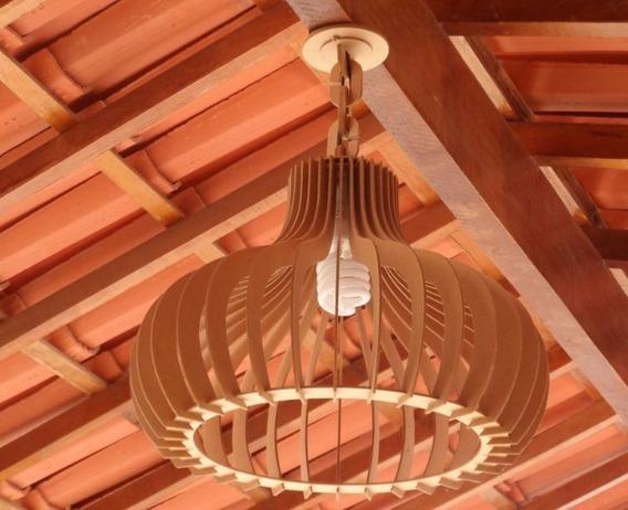 Luminária Lustre Pendente Rústico 45cm