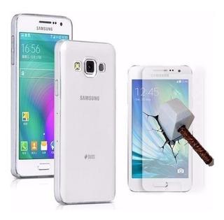Capa Case Tpu Samsung Galaxy J7 J700 + Pelicula Vidro
