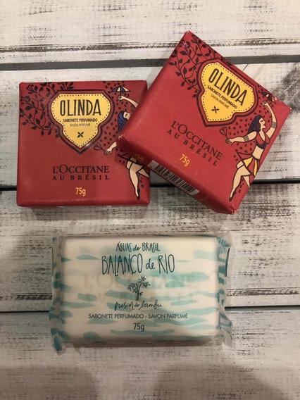 Loccitane Kit De Sabonetes - 2 Olinda + 1 Balanço De Rio