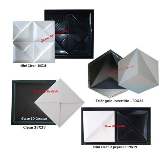 Kit 4 Formas Plástico Abs 2mm Para Cimento E Gesso 3d