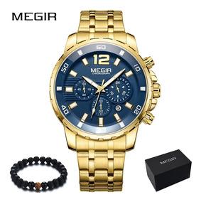 Relogio Masculino Megir 2068 Original Data Cronometro Luxo