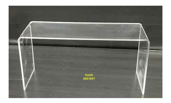 70 Exhibidor Plataforma Acrilico Calzado 20x10x07 Cm
