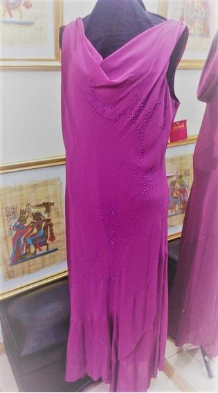Vestidos De Gasa Bordo Talle Xl Sabah Desing