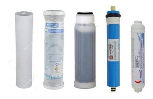 Kit Osmosis Inversa Recambio De Filtros Completo 6 Etapas
